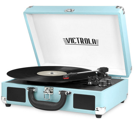 Victrola Suitcase Turntable Stereo w/ Speakers
