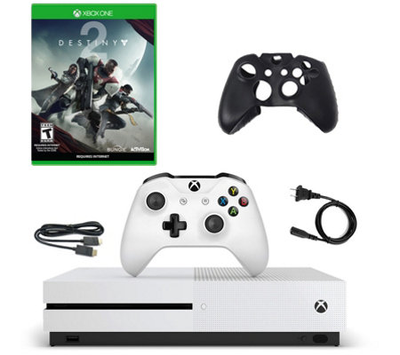Xbox One S 500GB Console with Destiny 2 andSilicone Sleeve