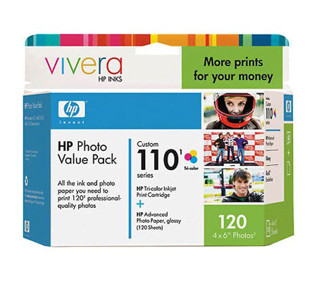 Hp Custom  Sheet Photo Value Pack