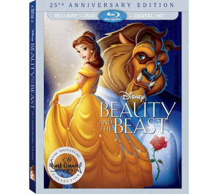 Beauty and the Beast 25th Anniversary Edition Blu-ray/DVD