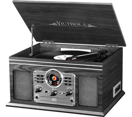 Victrola Wooden 6-in-1 Bluetooth Record Player