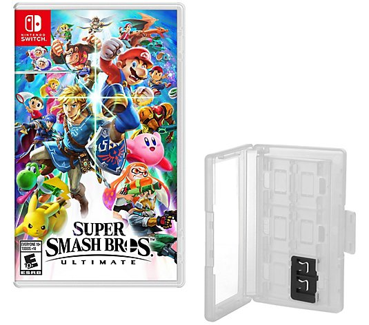 Super Smash Bros Ultimate Nintendo Switch Gameand Game Caddy