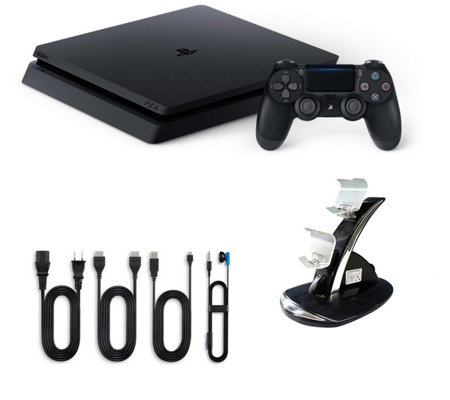 PS4 1TB Slim Console with Dual Charging Dock