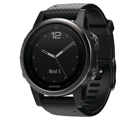 Garmin fenix 5S 42mm Multisport Watch SapphireEdition - Black