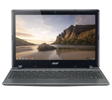 "Acer Chromebook 11.6"" Laptop 2GB RAM 320GBHD $100 Zinio Card & Tech Support"