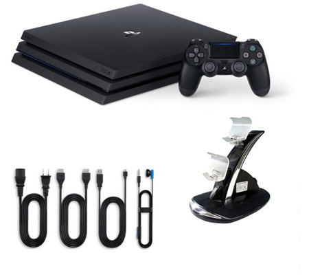 PS4 1TB Pro Console with Dual Charging Dock