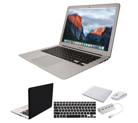 "Apple MacBook Air 13"" Laptop w/ Clip Case, Wireless Mouse & Accessories"