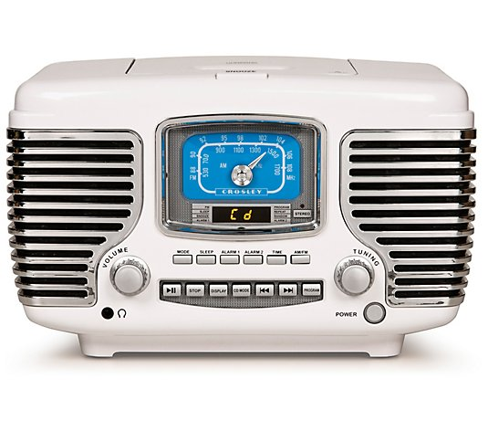 Crosley Corsair Bluetooth Radio with Clock and CD Player