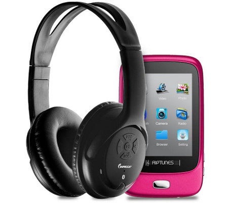 Impecca Bluetooth Stereo Headset w/ TouchscreenMP3 Player