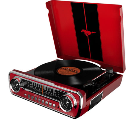ION Ford Mustang LP Turntable and Radio