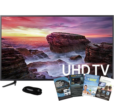 "Samsung 58"" LED Smart 4K Ultra HDTV, HDMI Cableand Software"