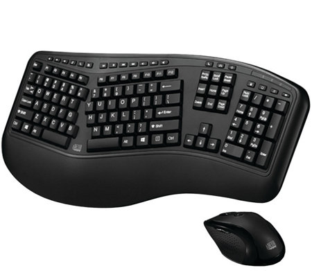 Adesso Tru-form Media 1500 Wireless Ergonomic Keyboard & Mous