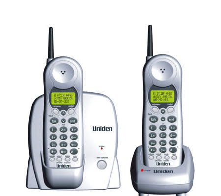 Uniden DXI386 2 900MHz Phone W CID CW RocketDial Extra Handset
