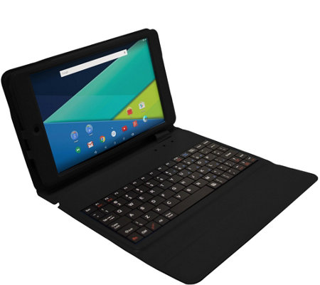 "Visual Land 8"" Tablet Quad Core 16GB with Keyboard Case"