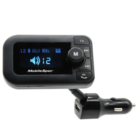 Mobilespec 12v Dc Fm Transmitter With Usb Port Led Display
