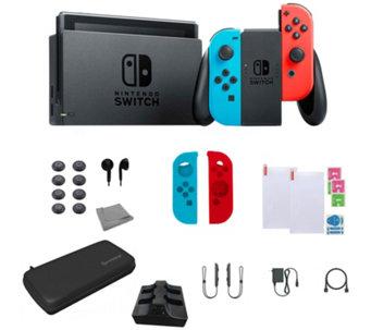 Video Games · Nintendo Switch Bundle with Accessories - Neon - E296037 1dc3dea401