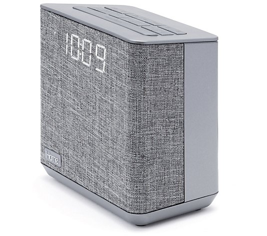 iHome Bluetooth Dual Alarm FM Clock Radio w/USB Charging