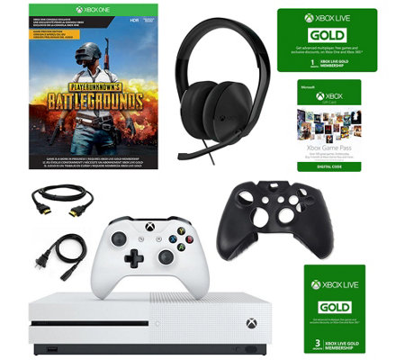 Xbox One S 1TB Console with Battlegrounds & Accessories