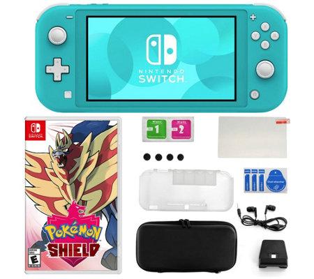 Nintendo Switch Lite Bundle With Pokemon Shield Accessories Qvc Com