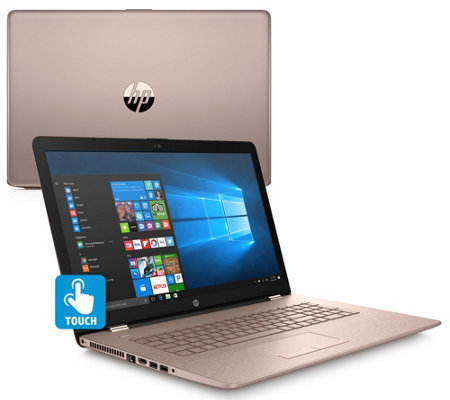 "HP 17"" Metallic Touch Laptop A12 Quad-Core 8GB RAM 1TB HDD with Software"