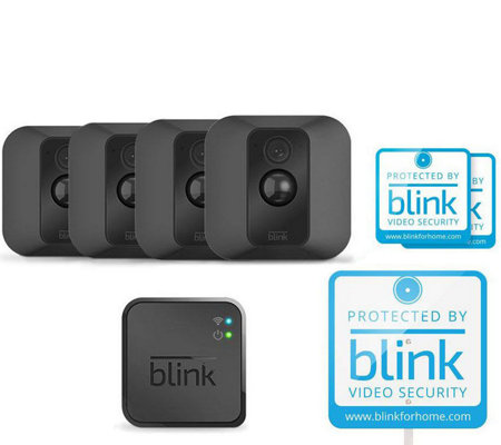 Blink XT Home Security Camera System with 4-Pack HD Wireless Camera