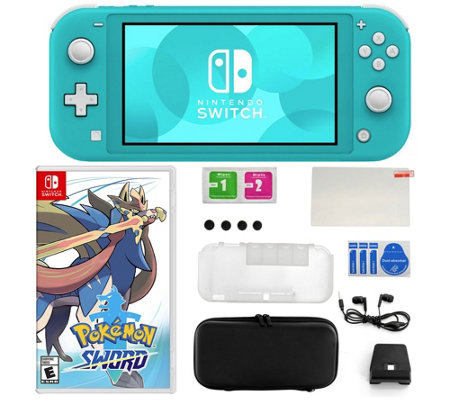 Nintendo Switch Lite Bundle With Pokemon Sword And Accessories Qvc Com