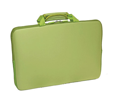 "15.6"" Notebook Sleeve with Lycra Exterior Shell- Green"