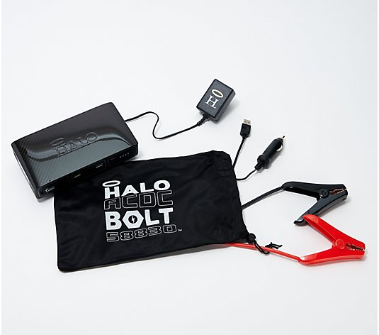 HALO Bolt ACDC Portable Power & Car Jumper with AC Outlet & Car Charger