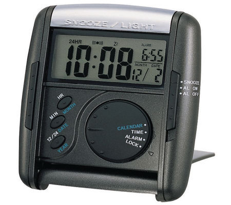 Seiko Get Up and Glow Travel Alarm - Black