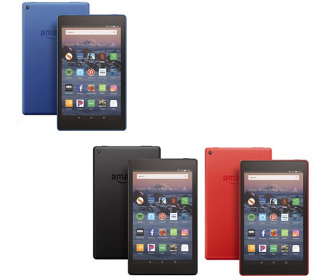 "All-New 2018 Amazon Fire 8"" 16GB HD Tablet Choice 1 or 2pk & Voucher Offer"