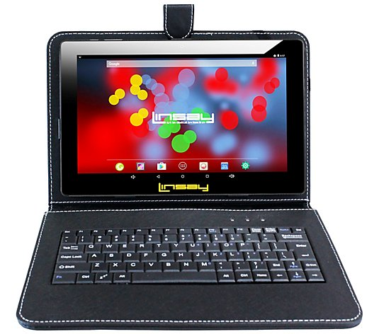 "LINSAY 10.1"" 16GB Android Tablet - 2GB RAM w/ Keyboard Case"