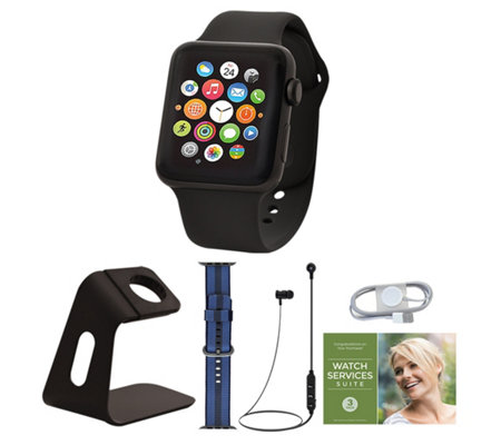 Apple Watch Series 3 Gps 38mm With Voucher And Accessories