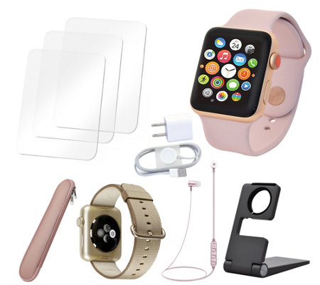 Apple Watch Series 3 38mm Sport Cellular with Accessories