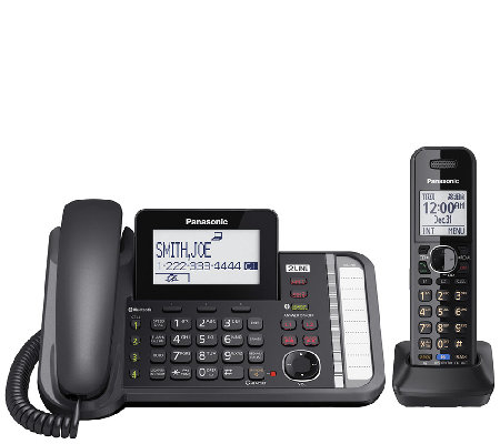 Panasonic Two-Line Telephone System with One Handset