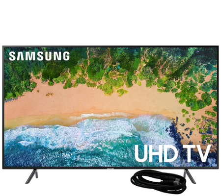"Samsung 40"" LED 4K HDR Ultra HDTV and 6' HDMICable"