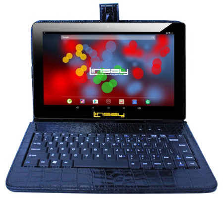Linsay 10 1 16gb Android Tablet 2gb Ram W Croc Keyboard