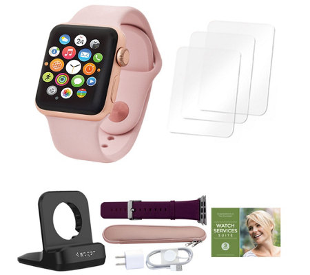 Apple Watch Series 3 42mm w/ Extra Band, Accessories & Voucher