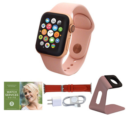 All-New Apple Watch Series 4 40mm GPS with Extra Band and Accessories