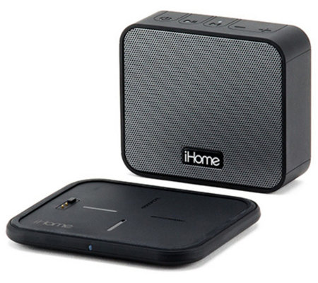 iHome Portable Bluetooth Speaker & WirelessCharging Pad