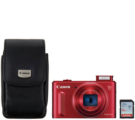 Canon Powershot SX610 20.2 MP 18x Digital Camera & Accessories