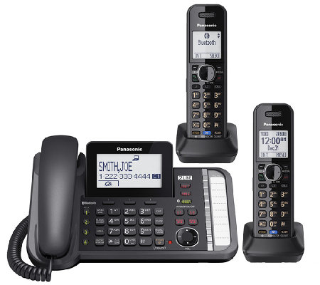 Panasonic Two-Line Telephone System with Two Handsets
