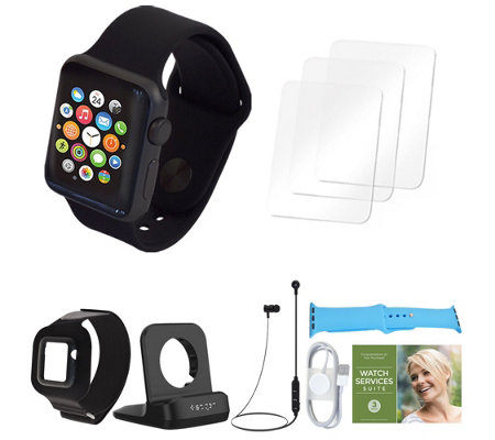 Apple Watch Series 1 38mm w/ Two Extra Bands and Accessories