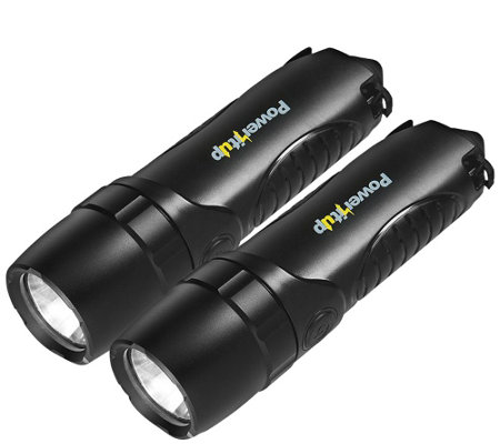 Impecca Set of Two 4-in-1 Flashlights w/ 5,200mAH Power Bank