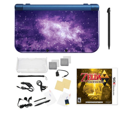 Nintendo 3DS XL with Zelda Game & Accessories -Galaxy