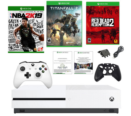 Xbox One S 1TB w/ Red Dead Redemption 2, NBA 2K19, Titanfall — QVC com