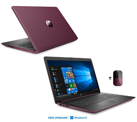 "Ships 12/10 HP 17"" Touch Laptop R7 12GB 2TB 3-Yr Tech, Mouse & Office"