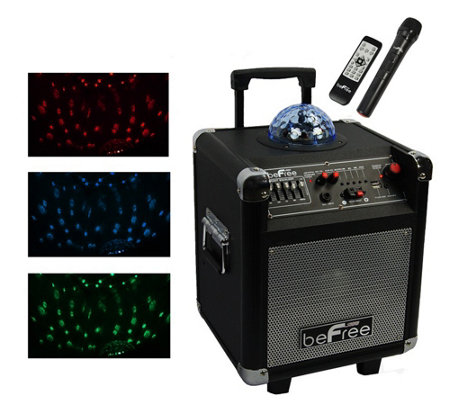 "beFree Sound 6.5"" Subwoofer with Projection Party Light  Dome"