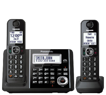 Panasonic Cordless Answering System with Two Handsets