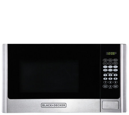 Black & Decker 0.9 Cu. Ft. Digital Microwave -Stainless Steel