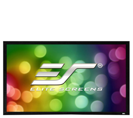 "Elite Screens 100"" Sable Fixed-Frame ProjectionScreen"